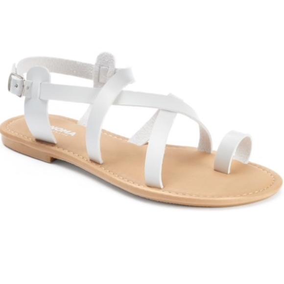 42d97482d2c New Sonoma Women s Crisscross Strap Sandals L 9 10